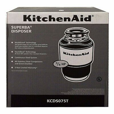 KitchenAid  Garbage Disposal 3/4 HP 40oz KCDS075T BRAND NEW! SHIPS FREE