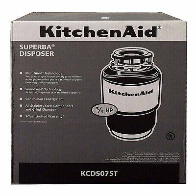 KitchenAid  Garbage Disposal 3/4 HP 40oz KCDS075T BRAND NEW! SHIPS FREE