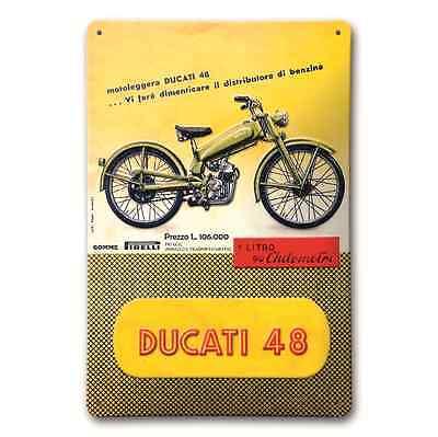 *SONDERPREIS* ORIGINAL Ducati 48 Metallschild / Schild