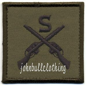 SNIPER TRADE BADGE IN OLIVE - MILITARY CLOTH PATCH