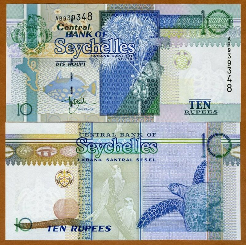 Seychelles, 10 rupees ND (1998) P-36a UNC