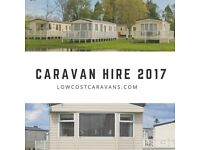 Caravans for hire at Flamingoland, Haven and Park Resorts