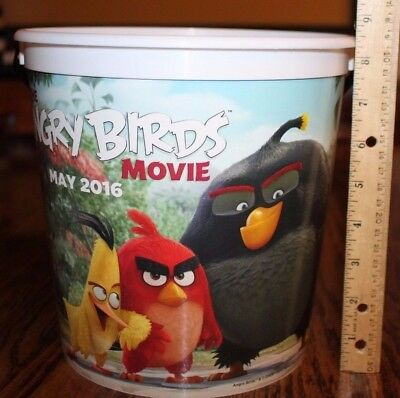 "2016 The Angry Birds Movie Theater Refill Popcorn Cinema Bucket, 8.5"" x 8.5"""