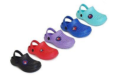 New boys/Girls' Clog Beach Shower Pool Shoes Toddler Kids Clearance W/ Shark Pin