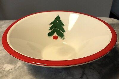 Marimekko by Pfaltzgraff CHRISTMAS Tree Round Serving Vegetable Bowl