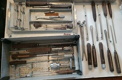 Synthes Universal Spine Set Hook And Screw Instruments Assorted Many Extras