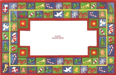 Jolly Christmas Quilt Photo Cards Dove Stocking Bow Train Gingerbread Set of 18