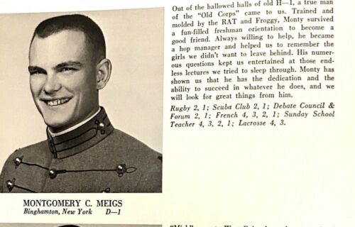 1967 United States Military Academy WEST POINT Yearbook The HOWITZER Meigs