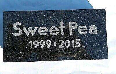 CUSTOM ENGRAVED GRANITE PET MEMORIAL, HEADSTONE, GRAVE MARKER STONE PLAQUE Memorial Stone Marker