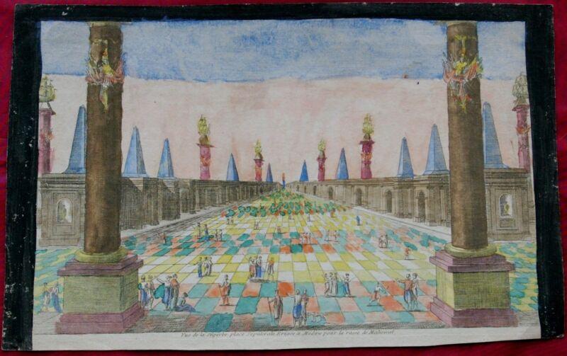 View of MEDINA Madinah City of Prophet Muhammad 18th century engraving