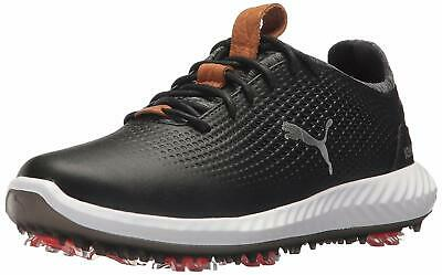 Puma Ignite PWRADAPT Junior Golf Shoes - Black/White - 190584