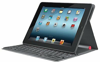 Logitech Solar Folio Keyboard Wireless Case for Ipad 2, 3 & 4 Generation - Black