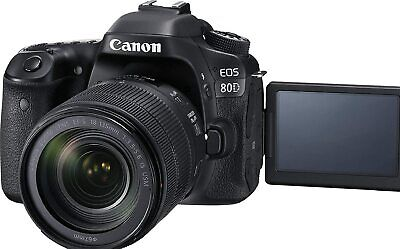 Canon Digital SLR Camera Body and EF-S 18-135mm f/3.5-5.6 Image Stabil - Black