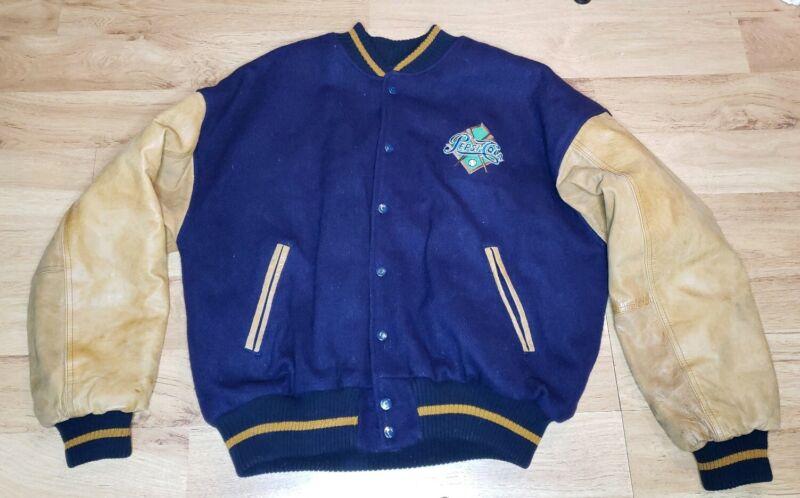 Vintage Pepsi Cola Varsity leather & wool Jacket Mens Size Medium