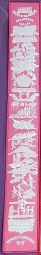 Boy Scout BSA OA Lodge Order of the Arrow Legend Sash Patch Pink/White