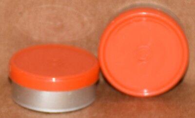 20mm Aluminum Plain Flip Top Serum Vial Seals Orange - Qty. 25