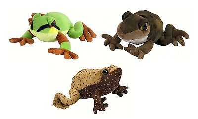 Set of 3 Frogs and Toad Plush with Realistic Croaking Sound 7 in - Wild Republic