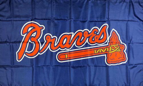 Atlanta Braves MLB Blue Flag 3x5 ft Sports Baseball Banner M