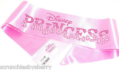 Disney Princess Sash Theme Parks Pink Ribbon New