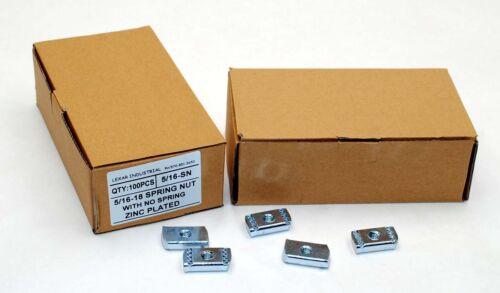 (100) Strut Channel Nuts 5/16-18 No Spring Zinc Plated Unistrut Nut