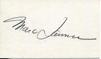 (Marc Lawrence Autograph Gangster / Tough Guy / Star Trek Actor Signed Card)