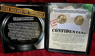 2003 AMERICAN SACAGAWEA GOLDEN DOLLAR LIBERTY PHILA DENVER UNCIRCULATED COIN SET