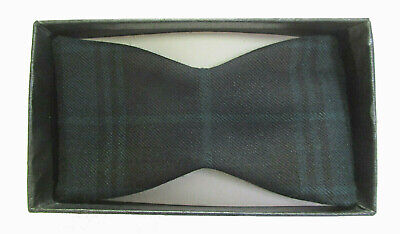 New Men's Silk Black Watch Plaid Self-Tie Bow Tie Tartan Lord West Made in USA Black Watch Silk Tartan