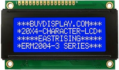 3.3v Small Size Blue 2004 20x4 Character Lcd Display Module Wtutorialhd44780