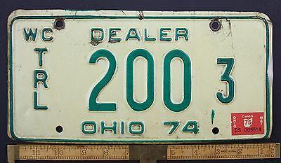 1974 Vintage Original OHIO License Plate 200 3 WATERCRAFT TRAILER DEALER