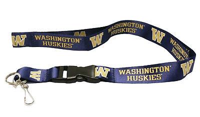 Washington Huskies Purple PSG 2-sided Lanyard Breakaway Keychain University of