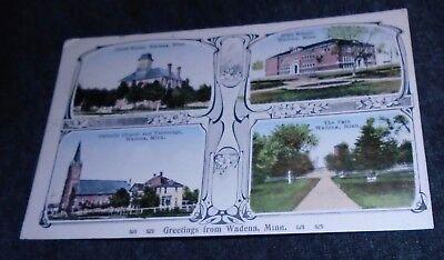For sale Wadena Minnesota Multi View Vintage Postcard