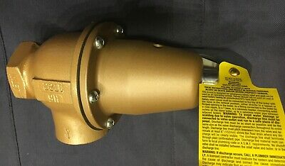 Watts Regulator 740-075 1 14 Water Pressure Safety Relief Valve 0383484