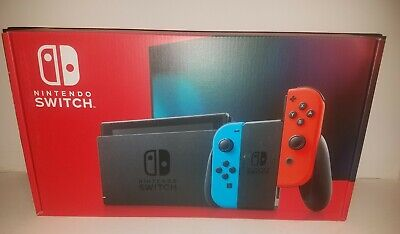 Nintendo Switch Console 32GB Neon Blue Red Joy-Con NEW IN HAND SHIPS TODAY