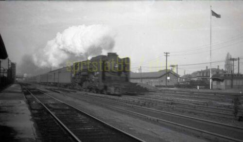 1946 NYC New York Central Locomotive #3019 @ Allston MA - Vtg Railroad Negative