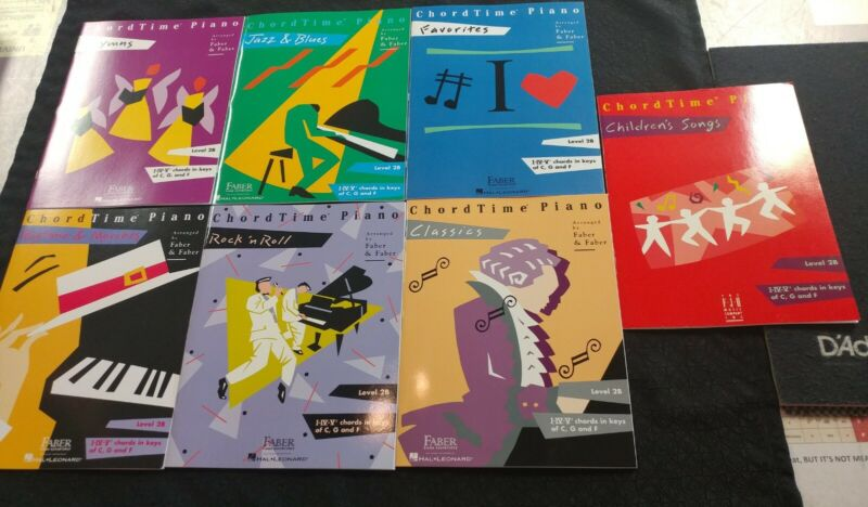 ChordTime Piano Level 2B Music Books - Lot Of 7