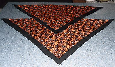 Two Brand New Halloween Spider Web Design Dog Bandanas For Dog Rescue Charity
