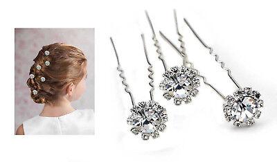 Swarovski Haar (10x Haarnadeln Kristall Swarovski Haarschmuck Hochzeit Kommunion für Steckfrisur)