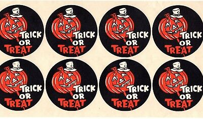 HALLOWEEN Vintage Tom's Nuts JACK O LANTERN Sticker Sheet of 8 PROMO Advertising - Advertising Halloween