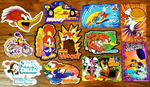 Woody Woodpecker & Friends FULL SET OF 12 vending stickers / decals vending