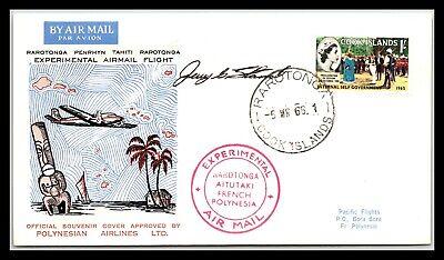 GP GOLDPATH: COOK ISLANDS SOUVENIR COVER 1966 AIR MAIL _CV677_P14