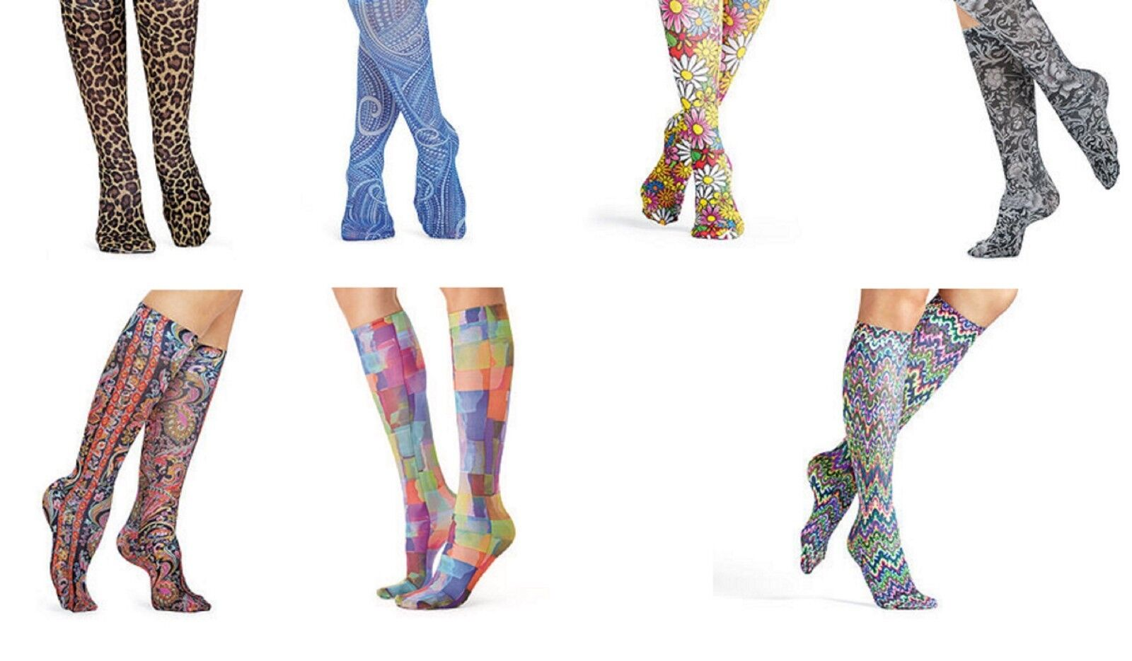 Compression Knee Socks Highs Celeste Stein Made in USA Choose Size and Design Clothing, Shoes & Accessories