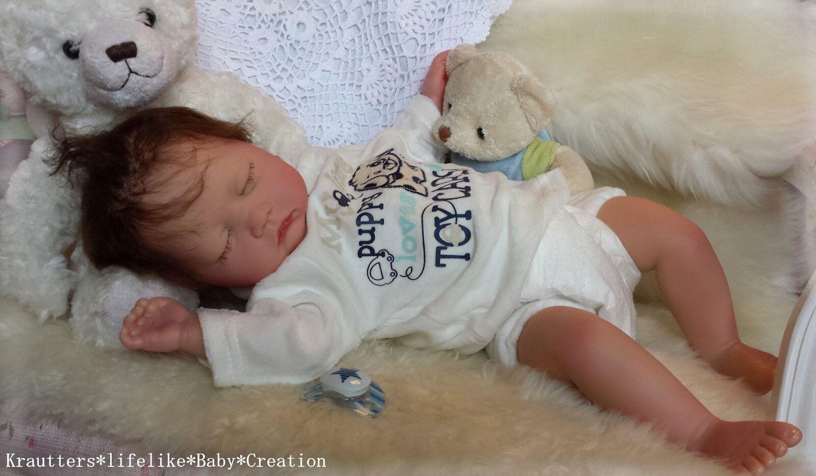 ♥Reborn Reallife Baby BS v. U.L Krautter,wie echt ! Babypuppe,Künstlerpuppe♥