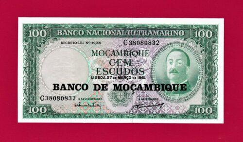 MOZAMBIQUE UNC BANKNOTE: 100 ESCUDOS 1961 (P-117) - VERY COLLECTIBLE NOTE