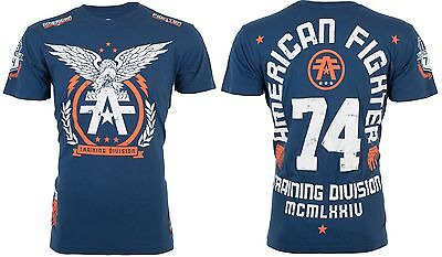 Usn Fighter - AMERICAN FIGHTER Mens T-Shirt TAKE FLIGHT Eagle NAVY Athletic Biker Gym UFC $40