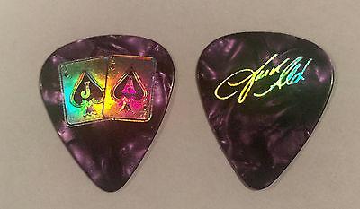 Jason Aldean   Guitar Pick Purple Pearl Gold 2015 Tour Jacks   Aces Country