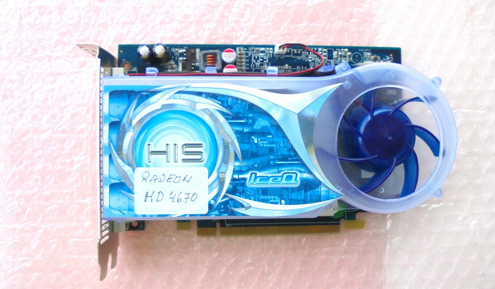 HD 4670 TOP Grafikkarte HIS Radeon 1GB DDR3 PCIe DVI + HDMI Adapter TOP Zustand
