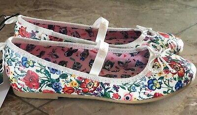 """Ballerines fleuries """"NATHALIE""""-Chaussures plates à bride et nœud-Pointure EUR 32"""