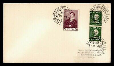 DR WHO 1953 IRELAND PORT ATHOLIATHGAILLIMH PORTRAIT PAIR TO USA  g19749