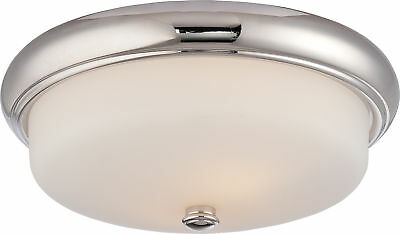 - Nuvo Dylan 2 Light Flush Fixture with Etched Opal Glass LED Omni Included