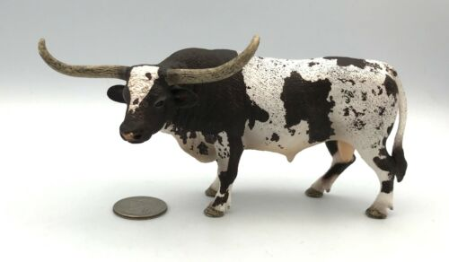 Schleich Cow TEXAS LONGHORN BULL Cow 2012 Retired Farm Animal 13721 Figure